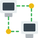 network, Connection, networking, computing Icon