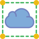 Cloud, weather, Cloudy, sky, Cloud computing, Seo And Web CornflowerBlue icon