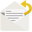 Email, open, mail, send, reply, notification Gainsboro icon