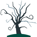 Tree, halloween, horror, Terror, spooky, scary, Fright, Frightening Icon