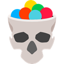 food, Candy, skull, halloween, sugar, Dessert, sweet, spooky, Candies, Lollies LightGray icon