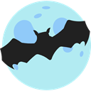 Animal Kingdom, zoo, halloween, Animals, Wild Life, bat PaleTurquoise icon