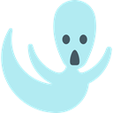 Ghost, halloween, horror, Terror, spooky, scary, fear PaleTurquoise icon