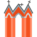 halloween, horror, Terror, Cemetery, graveyard, spooky, scary, Fright, Frightening OrangeRed icon