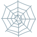 interface, halloween, cobweb, Spider Web, web Black icon