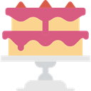 cake, food, Dessert, sweet, slice, Bakery, baker, Cake Slice, Food And Restaurant PaleVioletRed icon