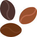 Coffee, drink, food, Beans, drinks, Seeds, Coffee Beans, Food And Restaurant SaddleBrown icon