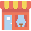 Business, store, buildings, Restaurant, Coffee Shop, Food And Restaurant Coral icon