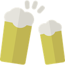 Alcoholic Drink, Pint Of Beer, Food And Restaurant, Alcohol, beer, toast, pub DarkKhaki icon