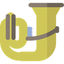 music, Tuba, musical instrument, Wind Instrument, Orchestra, Music And Multimedia DarkKhaki icon