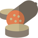 food, Butcher, Salami, Food And Restaurant, meat, fried, Pork, Sausages DimGray icon