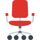 buildings, sitting, Desk Chair, Furniture And Household, miscellaneous, Seat, Chair Crimson icon