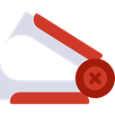 miscellaneous, tool, Tools And Utensils, Office Material, Edit Tools, Stapler Remover Firebrick icon