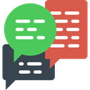Conversation, Communications, Multimedia, Chat, Communication, speech bubble MediumSeaGreen icon