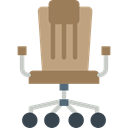 miscellaneous, Desk Chair, Furniture And Household, Seat, Chair, buildings, sitting Black icon