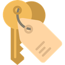 Home, house, Key, security, keyword, real estate, Tools And Utensils, House Key NavajoWhite icon