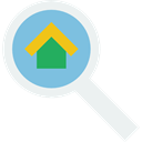 Loupe, real estate, Tools And Utensils, Edit Tools, search, magnifying glass, zoom, detective WhiteSmoke icon