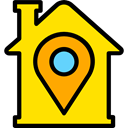 house, Construction, buildings, property, Home, real estate Gold icon