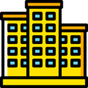 property, Apartments, real estate, residential, buildings, Apartment Gold icon