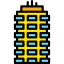 Apartments, real estate, residential, buildings, Apartment, property Black icon