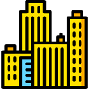 urban, Skyscrapers, Cityscape, city, town, buildings, Architecture, real estate Gold icon