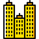 Building, city, town, buildings, skyscraper, real estate, urban, Architectonic Gold icon