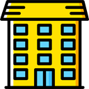buildings, Apartment, property, Apartments, real estate, residential Gold icon