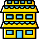 urban, Appartment, Condo, buildings, real estate Gold icon