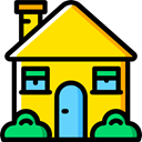 real estate, house, Construction, buildings, property, Home Gold icon