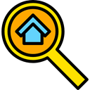 Loupe, real estate, Tools And Utensils, Edit Tools, search, magnifying glass, zoom, detective Black icon