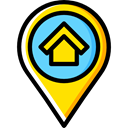 interface, pin, placeholder, signs, real estate, map pointer, Map Location, Map Point Black icon