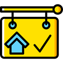 Home, house, Panel, buildings, property, real estate Gold icon