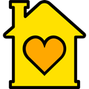 house, Construction, buildings, property, real estate, Home Gold icon