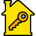 House Key, security, keyword, real estate, Tools And Utensils, Home, house, Key Gold icon