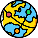 global, Geography, worldwide, Maps And Flags, Planet Earth, Earth Globe, Maps And Location, Seo And Web Gold icon