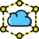 Cloud, Cloud computing, Seo And Web, weather, Cloudy, sky Black icon