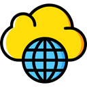 Seo And Web, Cloudy, sky, Cloud computing, Cloud, weather Gold icon