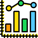 Business, Profits, Seo And Web, Stats, Analytics, statistics, Bar chart Black icon