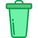 miscellaneous, Trash, interface, Basket, Bin, Garbage, Can, Tools And Utensils MediumAquamarine icon