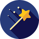 wizard, halloween, witch, magician, magic wand, Tools And Utensils, Witchcraft DarkSlateBlue icon