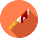 scary, fear, Knife, Terror, murder, spooky, weapon, halloween, horror, Blood Coral icon