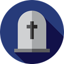 death, tomb, tombstone, halloween, Stone, Cemetery, Rip DarkSlateBlue icon