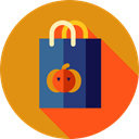Business, commerce, shopping, Bag, halloween, shopping bag, Supermarket, Shopper Goldenrod icon