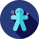 halloween, horror, Terror, spooky, scary, fear, Voodoo Doll DarkSlateBlue icon