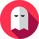 Game, play, gaming, pacman, Ghost, playing, halloween, leisure, videogame Crimson icon