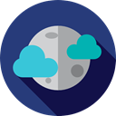 Moon, weather, nature, meteorology, Astronomy, full moon, Moon Phase DarkSlateBlue icon