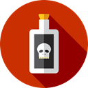 halloween, horror, poison, Terror, dangerous, spooky, scary, fear Firebrick icon