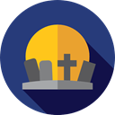 halloween, horror, Terror, Cemetery, Rip, spooky, scary, fear, tombstone DarkSlateBlue icon