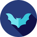 bat, zoo, Animals, Wild Life, Animal Kingdom DarkSlateBlue icon