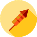 party, Rocket, Fireworks, Celebration, Birthday And Party Khaki icon